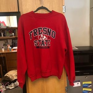 🌸SPRING SALE🌸fresno state thrifted crew neck